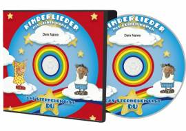 Persönliche Kinderlieder-CD -Sternchen- mit dem Namen Ihres Kindes personalisiert - Bild vergrößern